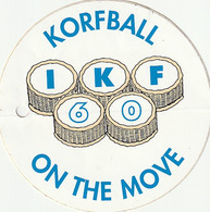 Pegantina Sticker Autocollant / BUDA - KORFBALL - ON THE MOVE - IKF60 - Pegatinas