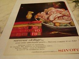 ANCIENNE PUBLICITE SAVEUR OBLIGE SAVORA 1964 - Affiches