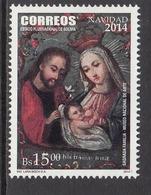 2014 Bolivia Navidad Christmas  Complete Set Of 1 MNH - Bolivia