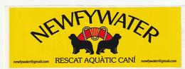 Pegantina Sticker Autocollant / NEWFYWATER - RESCAT AQUATIC CANI - Pegatinas