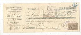 Mandat,faiences Verreries,porcelaines-cristaux, Jactel Fils Ainé ,TOURS, 1904 ,3 Scans, Frais Fr :1.65 E - Bills Of Exchange