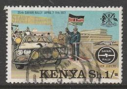 Kenya 1977 The 25th Anniversary Of Safari Rally 1 Sh Multicoloured SW 77 O Used - Kenya (1963-...)