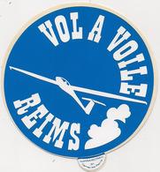 Autocollant -    VOL A VOILE    REIMS - Autocollants