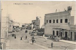 MAROC - MAZAGAN - PLACE J. BRUDO - Société Marocaine Métallurgique-Plusieurs Charrettes-Nombreuses Personnes - Maroc