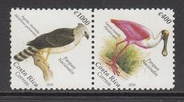 2010 Costa Rica Birds Oiseaux Spoonbill Eagle Aigle  Pair MNH - Costa Rica
