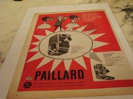 ANCIENNE  PUBLICITE CAMERA B 8 SL PAILLARD   1959 - Autres