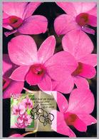ORQUIDEA Dendrobium Phalaenopsis. Tarjeta Maxima-maximun Card. Australia 1998 - Orquideas