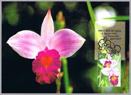 ORQUIDEA Arundina Graminifolia. Tarjeta Maxima-maximun Card. Australia 1998 - Orquideas