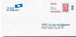 Prêt-à-poster Réponse: PAP LE JOUR DU SEIGNEUR  N° Verso 229054.  Marianne L'engagée - PAP: Antwort
