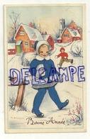 Petite Fille Dans Un Village Enneigé. Signée M.B. Cooper 1950 - Mc Gill, Donald