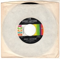 Jimmy Newman - I'm Sorry Letters - Sunshine And Bluebirds - DECCA 32285 - 1968 - Country & Folk