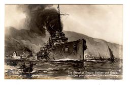 Ansichtskarte Deutsche Kreuzer Goeben Und Breslau Im Hafen Von Messina, 1914-18, Kriegsschiff - War 1914-18