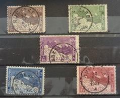 COB 249-253 Avec Belles Oblitérations Rumbeke (2x) Watermael, Gosselies Et Brugge - Oblitérés