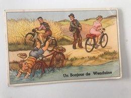 Carte Postale Ancienne  Un Bonjour De Wenduine - Wenduine