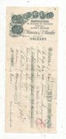 Mandat, Manufacture De Faience Et Poteries,Bravais & Bardin ,Orléans,1906 , 3 Scans ,frais Fr :1.65 E - Bills Of Exchange
