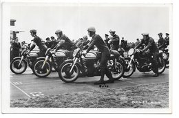 Carte-photo...Assen...Dutch T.T ...350c.c... 1950...départ ...animée... - Sport Moto