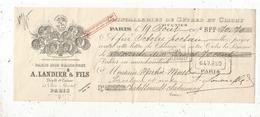 Lettre De Change, A. Landier & Fils ,  Paris ,1905 , 2 Scans ,frais Fr :1.65 E - Bills Of Exchange