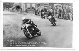 Carte-photo...Assen...T.T 1950...350 Cc .n° 52 Duke Sur Norton.n°79 Lomas Sur Velocette ..ect.... - Sport Moto