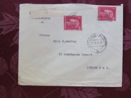 Luxemburg 1957 Cover Esch Sur Alzette To London - Grand Duchess Charlotte - Cartas