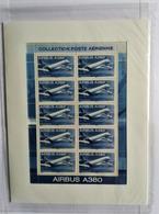Poste Aérienne  AIRBUS A 380 Feuillet 10 Timbres Daté 20 04 06 NEUF SOUS BLISTER NON OUVERT - Blocs & Feuillets