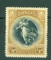 Barbados: 1920/21   Winged Victory    SG201    ¼d       MH - Barbados (...-1966)