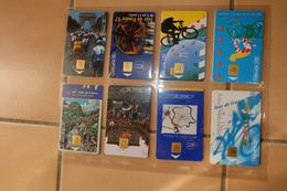 Lot De 8 Telecarte  Tour De Frnace 1997 2001 2000 1999 1998 - Sport