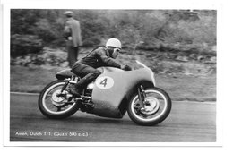 Carte-photo...Assen...(pays-bas)...moto...dutchT.T.....(guzzi C.c.)...années 50... - Sport Moto