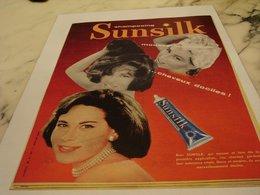 ANCIENNE PUBLICITE NOUVEAU SHAMPOOING SUNSILK 1958 - Perfume & Beauty