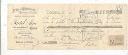 Mandat,faiences Verreries,porcelaines-cristaux, Jactel Fils Ainé ,TOURS, 1906 ,3 Scans, Frais Fr :1.65 E - Bills Of Exchange