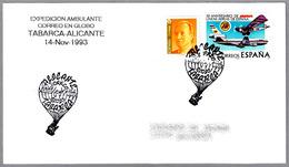 Expedicion Ambulante CORREO EN GLOBO TABARCA-ALICANTE. 1993 - Correo Postal
