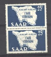 07118  -  Sarre  :  Mi  261  I + II **  Les 2  Types Se Tenant - 1947-56 Allierte Besetzung