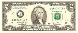 """U.S.A. 2 DOLLARS 2003 PICK 516a """"I"""" UNC - Billetes De La Reserva Federal (1928-...)"""