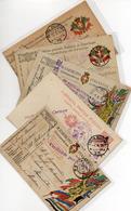 5 CARTOLINE IN FRANCHIGIA - DIFFERENTI - VIAGGIATE CON TIMBRO MILITARE TUTTI LEGGIBILI - 2 - War 1914-18