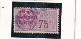 Timbre Fiscal A.E.F Médaillon De Daussy 75 C - A.E.F. (1936-1958)
