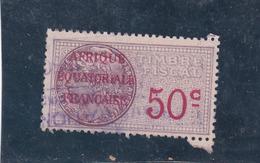 Timbre Fiscal A.E.F Médaillon De Daussy 50 C - A.E.F. (1936-1958)