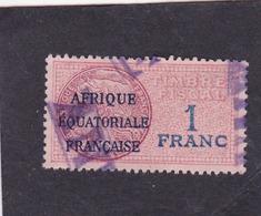 Timbre Fiscal A.E.F Médaillon De Daussy 1 Fr - A.E.F. (1936-1958)