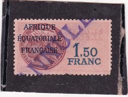Timbre Fiscal A.E.F Médaillon De Daussy 1.5 Fr - A.E.F. (1936-1958)
