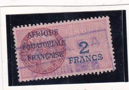 Timbre Fiscal A.E.F Médaillon De Daussy 2 Fr - A.E.F. (1936-1958)