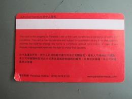 Kampek Paradise Casino Macao, Paradise Entertainment Card, Corner Damaged(big Bend) - Casino Cards