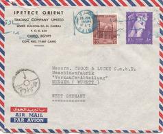 EGYPTE FP-Brief (2) 1958, Gebrauchsspuren - Luftpost