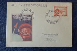 1961 - FDC - KOPHENAGEN, DANMARK - YURI GAGARIN - Collezioni