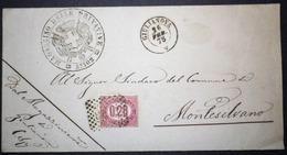 Annullo Numerale GIULIANOVA Teramo Numerali Abruzzo Su Servizio - 1861-78 Victor Emmanuel II