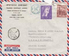 EGYPTE FP-Brief (3) 1958, Gebrauchsspuren - Luftpost