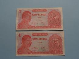4 X 1 Satu Rupiah > Bank Indonesia ( For Grade, Please See Photo ) 4 Pcs.! - Indonesien