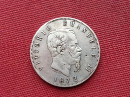 ITALIE Monnaie De 5 Lire 1872 Argent - 1861-1878 : Victor Emmanuel II