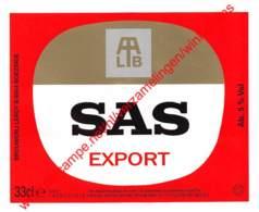 SAS Export 33cl - Brasserie Leroy Brouwerij Boezinge - Bière