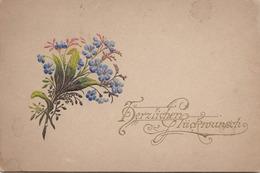 Namens Kärtchen Gold Prägedruck Um 1900, 9,5 X 5,7 Cm - Mitteilung
