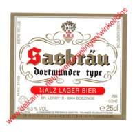 Sasbräu - Dortmunder Type 25cl - Brasserie Leroy Brouwerij Boezinge - Bière