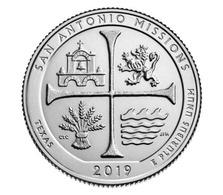 USA, 2019 San Antonio, National Historical Park, 25 C Coin (D) - 2010-...: National Parks