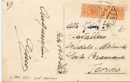 CARTOLINA CON AFFRANCATURA INTERESSANTE - 8 - Stamps (pictures)
